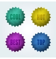 Set of 4 quality labels vector image