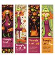 autumn sale banners vector image vector image