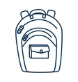 school backpack utensil vector image