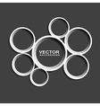 abstract circle shape on black background vector image