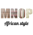 Letters of the alphabet African texture vector image