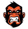 Monkey head mascot vector image