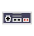 pixel art game pad contorller cartoon retro game vector image