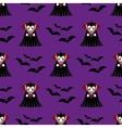 Vampire seamless pattern vector image