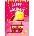 ice cream cart vector image