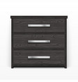 wooden chest of drawers black vector image