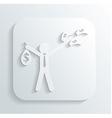 man money bag icon vector image