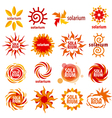 collection of different logos for solarium vector image