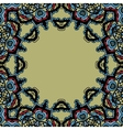 Seamless mandala frame for text Oriental style vector image