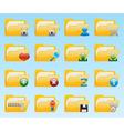 shiny folder icons set vector image