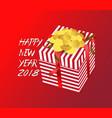 color gift box bows and ribbons hand drawn vector image