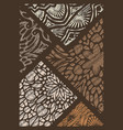 decor from pieces of colored lace decorative vector image