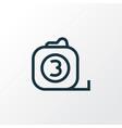 measure tool outline symbol premium quality vector image