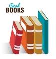 read books design vector image