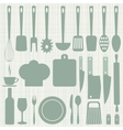Seamless kitchen vector image