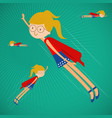 super girl fly on the sky vector image