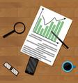 infochart strategy paperwork vector image