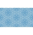 Elaborate blue fantasy flower seamless pattern vector image