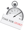 Stopwatch with text time for sport vector image