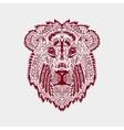 Zentangle stylized lion head vector image