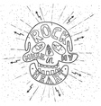 Rock music in my heart vector image vector image