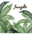 jungle leaves pattern isolated icon design vector image vector image