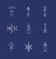 alchemy geometry symbol thin line set vector image