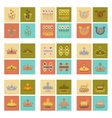 assembly flat icons poker symbols vector image