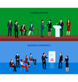 Business People Group Horizontal Banners vector image