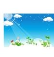 Floral Cloud vector image