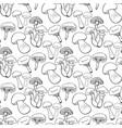 hand drawn mushrooms seamess pattern doodle vector image