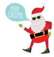 Hipster Santa Claus Christmas background vector image