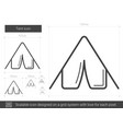 tent line icon vector image