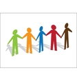 Multiracial Paper People vector image vector image