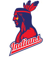 indian tribe mascot vector image