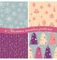 Christmas patterns collection 1 vector image vector image