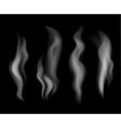 Smoke set on black background vector image