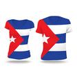 Flag shirt design of Cuba vector image