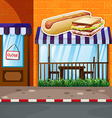 Fastfood shop by the street vector image vector image