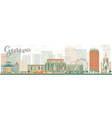 Abstract Geneva skyline with Color landmarks vector image