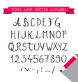 ABC - Hand Written Sketched Funky Retro Font - vector image