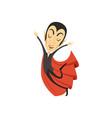 Count dracula vampire walking on air vector image