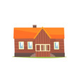 farm house rural cottage cartoon vector image