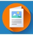 Flat Brochure Icon vector image