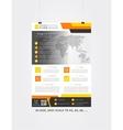 Flyer template advertising design vector image