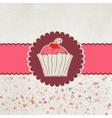 Happy birthday card Cupcake EPS 8 vector image