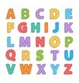 Needled alphabet isolated vector image