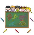 school boys vector image
