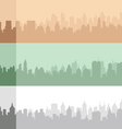 Set of an original city silhouette vector image