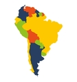 south american map isolated icon vector image